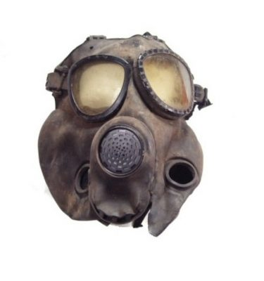 military surplus M17 Gas Mask, used and abused