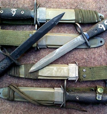 M-16 / Ar-15 Military Bayonet, Used