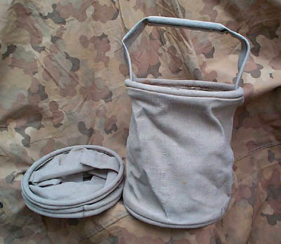 French Canvas Water Bucket