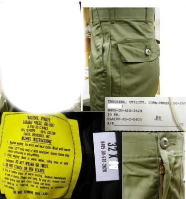 Fatigue Trousers (poly/cotton), Mismarked
