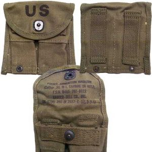 M-1 Carbine Mag Pouch 1957 Dated OD new