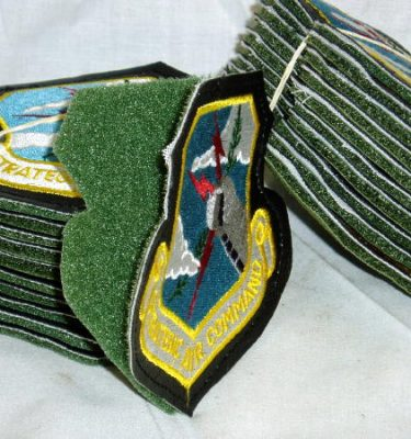 Strategic Air Command SAC Patch, Leather