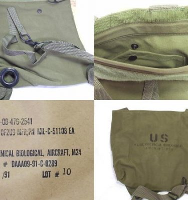 M-24 Aircraft Gas Mask Bag
