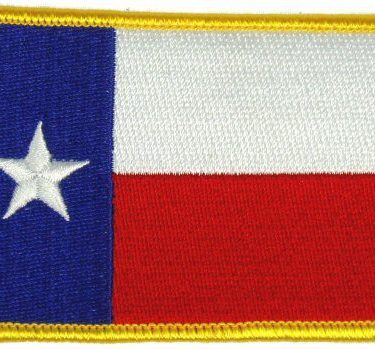 Flag-patch, Texas Gold Border 2 X 3