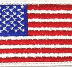 Flag-patch, US White Border, 2 X 3
