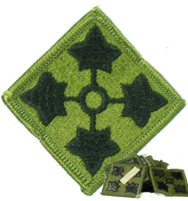 4th Infantry Patch, Subdued