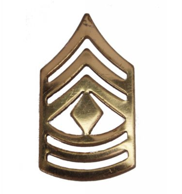 Army Pin-on Collar Rank, E-9, First Sgt