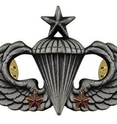 Senior Combat Parachute 2nd Award