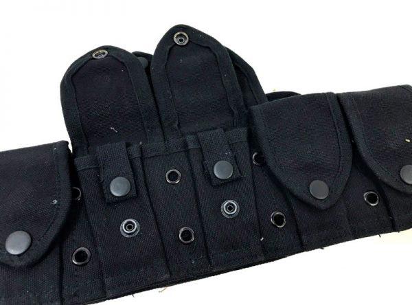 military surplus 10 pocket cartridge belt copy black