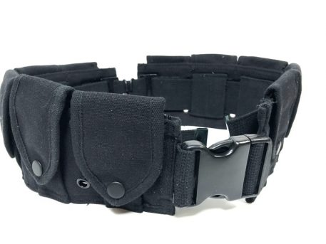 military surplus 10 pocket cartridge belt copy black