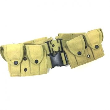 military surplus 10 pocket cartridge belt copy khaki