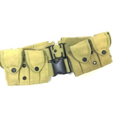 military surplus 10 pocket cartridge belt copy khaki