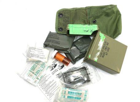 olive drab 1st aid kit box us number 8