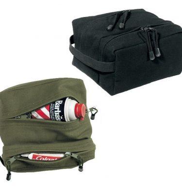 military surplus 2 compartment travel shave kit bag