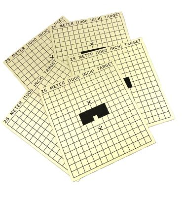 25 meter 1000 inch military card targets