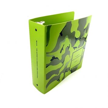 green camo 3 ring binder