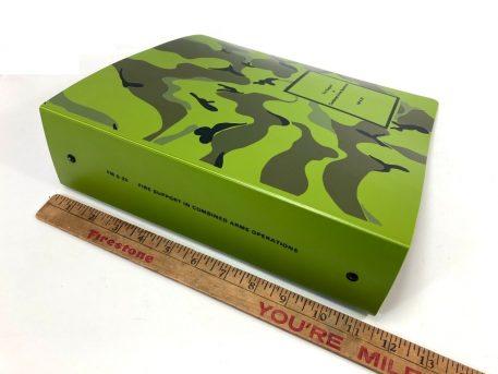green camo 3 ring binder