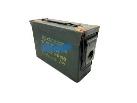 military surplus used 30 cal ammo box