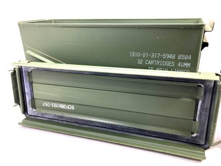 top with gasket green metal 40mm ammo box