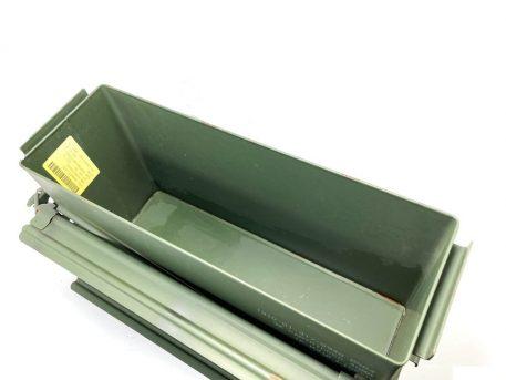 opened green metal 40mm ammo box