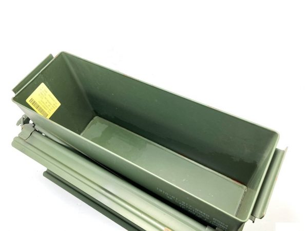 opened green metal 40mm ammo box