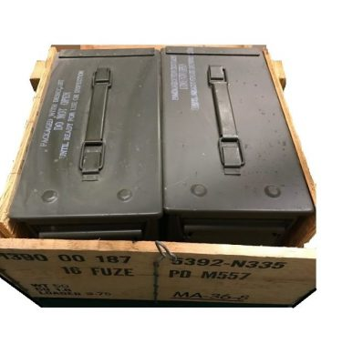 50 cal ammo cans in original 2pc wooden crate