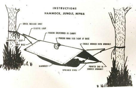 olive drab vietnam jungle hammock original instructions