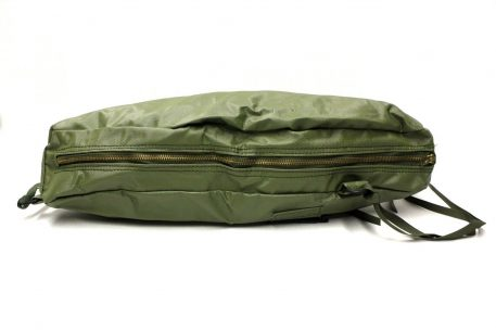 night vision scope case bag, leather material-green with brass zipper