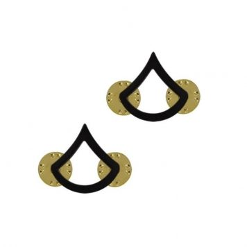 us pin on army rank black private first class