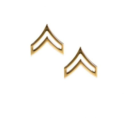 army pin on rank e-4 corporal