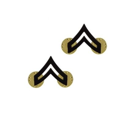 us pin on army rank black corporal