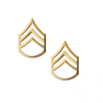 army pin on rank e-6 staff sergeant