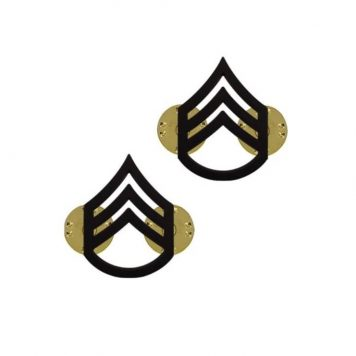 us pin on army rank black staff sergeant