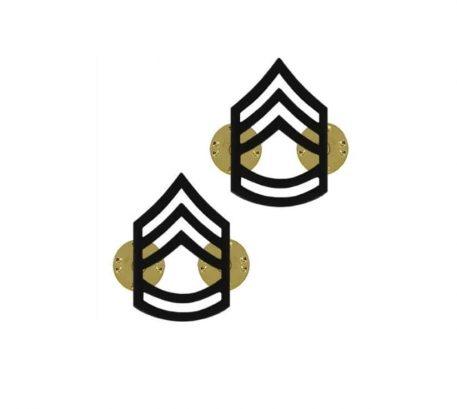 us pin on army rank black sergeant 1st class