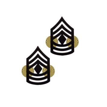 us pin on army rank black 1st sergeant