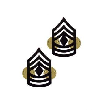 us pin on army rank black 1st sergeant