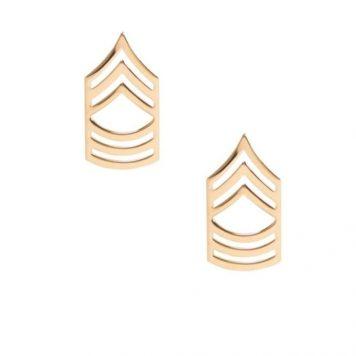 army pin on rank e-8 master sergeant