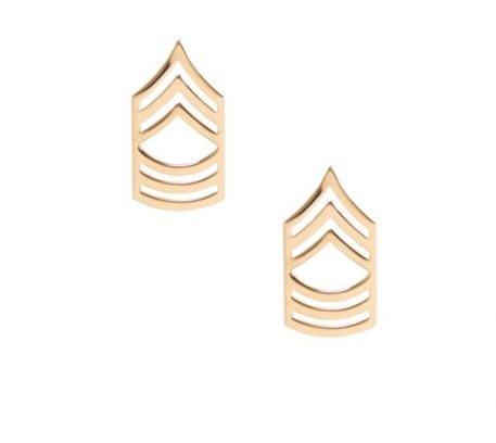 army pin on rank e-8 master sergeant