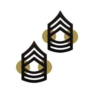 us pin on army rank black master sergeant