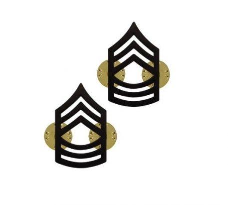 us pin on army rank black master sergeant