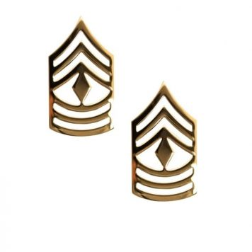 army pin on rank e-9 1st sergeant