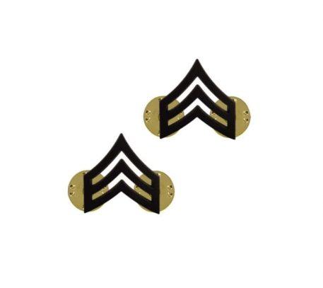 us pin on army rank black sergeant