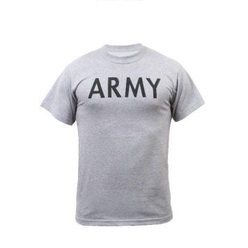 military surplus army pt shirt grey