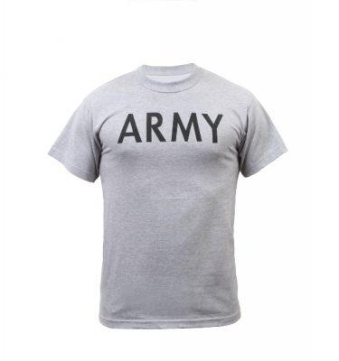 military surplus army pt shirt grey