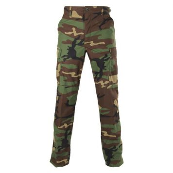 woodland camo bdu trousers, green camo