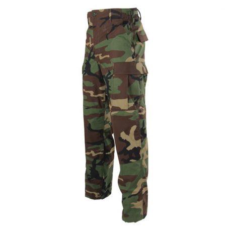 woodland camo bdu trousers, green camo