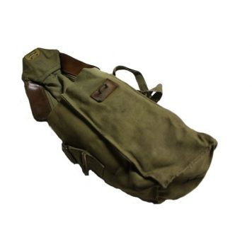military surplus belgian gas mask bag