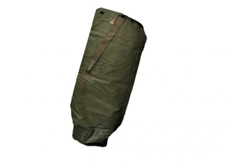 rubberized camo net pole bag olive drab green with strap