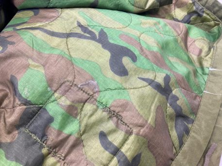 surplus woodland camo poncho liner used good condition
