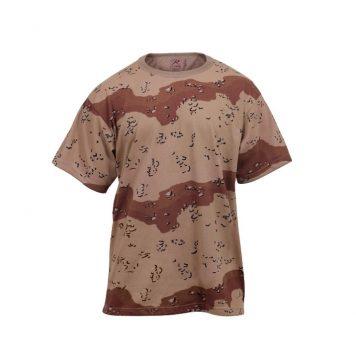 Camo T-shirt Desert 6-color, Short Sleeve